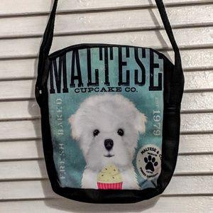 Bags - Small Zippered Maltese Dog Bag NWOT